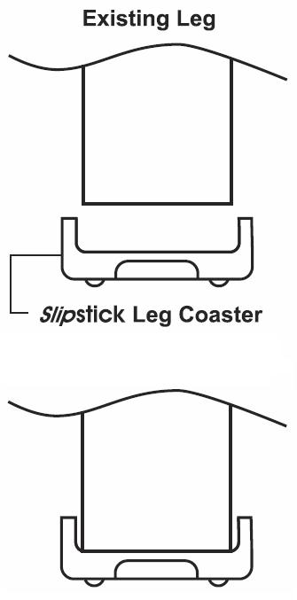 slipstick furniture leg coaster gripper cb520