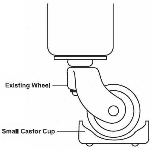 slipstick castor cups small cb600