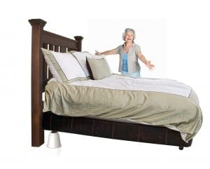 Queen Bed Medical Bed Risers by Slipstick
