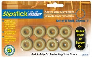 """CB250o-CB255o Slipstick 25mm (1"""") Slider Feet Packet"""