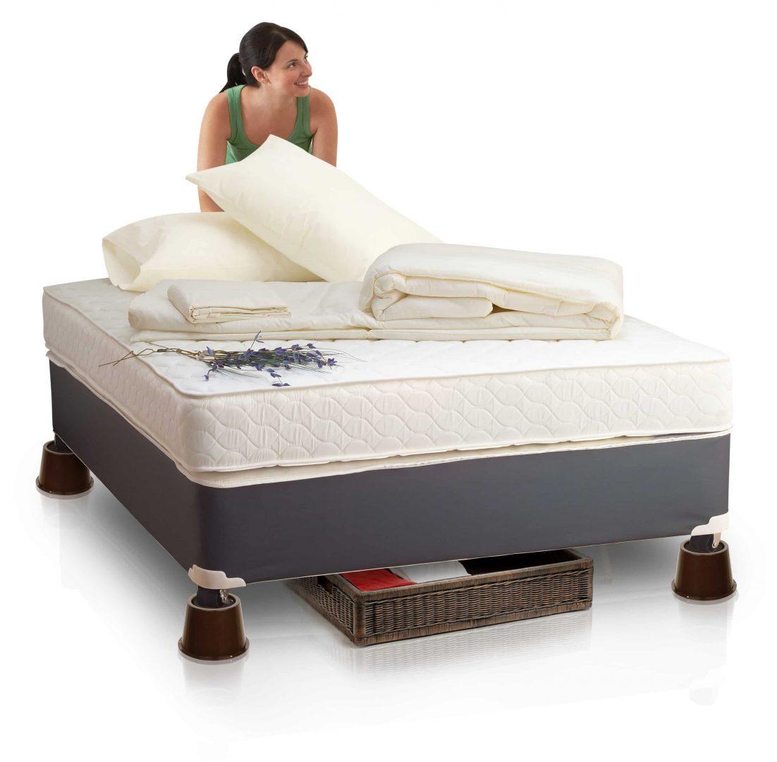 mattress risers. see how the 2\u2033 bed riser can take a load mattress risers r